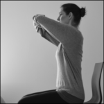 shoulder stretch taught by a physio for frozen shoulder
