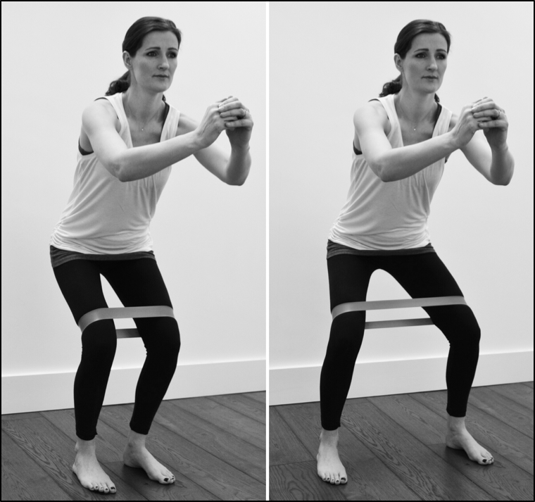 Knee strengthening with resistance band