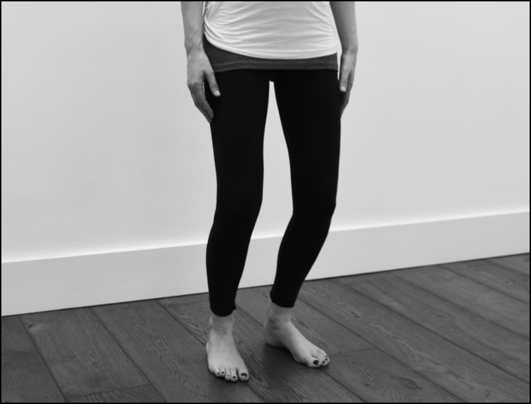 Mini squat - knee rehab exercise