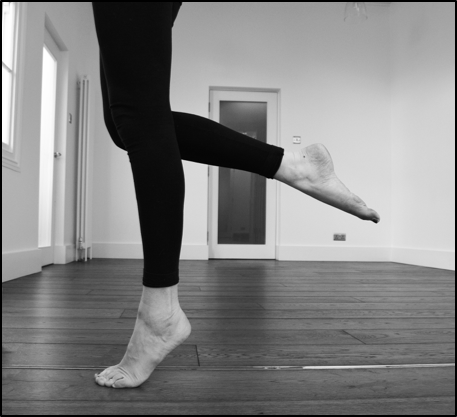 Single leg. heel raise strengthening for shin splints