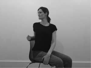 Stretch in sitting to improve tennis elbow at work