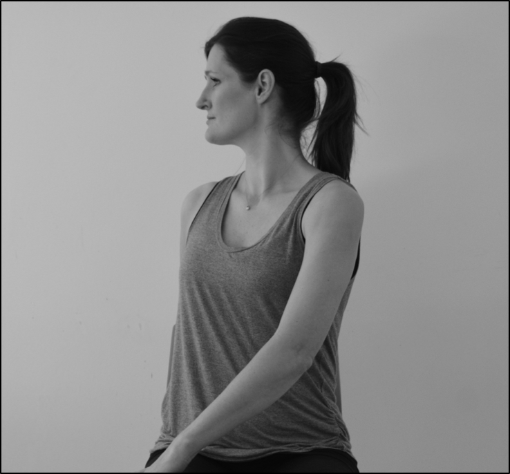Spine twist physiotherapy exercise for whiplash