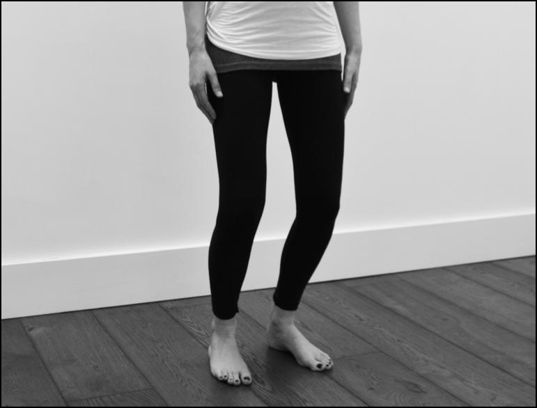Mini squat - knee rehab exercise