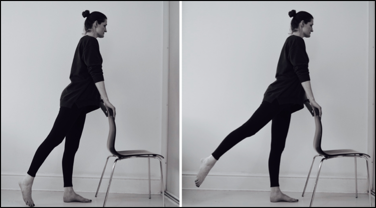 functional strengthening in standing- hip extension